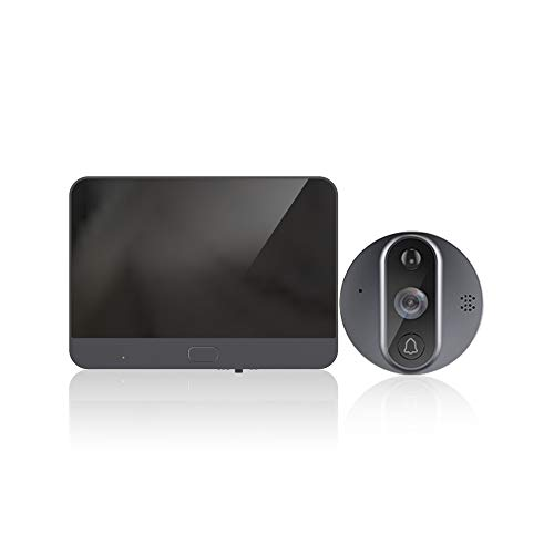 Digital Door Peephole viewer Camera Night Vision Wide Angle+Video Record+Photo Shooting, Wi-Fi Digital Door Peephole Viewer Doorbell - See Who's at Your Door from Anywhere