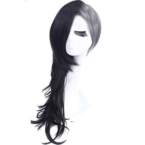 GHK Tokyo Ghoul Mannen En Vrouwen Cosplay Pruik Synthetische Uta Masker Maker Zwart Zilver Grijs Halloween Kostuum Anime Haar Volledige Pruiken vrouwen lang