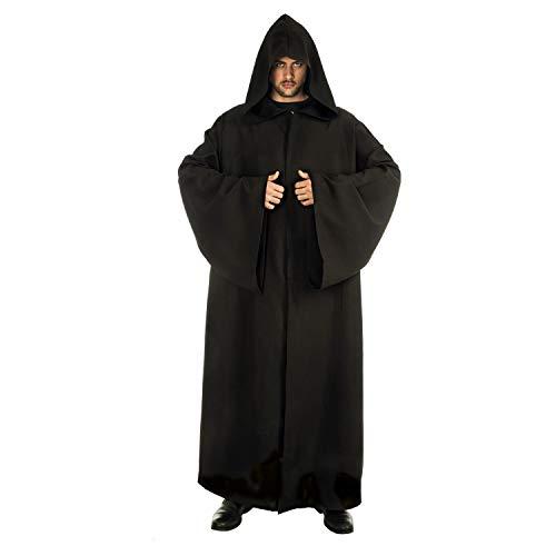 Cape à capuche chevalier Jedi -Noir-