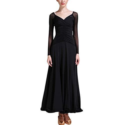 TAAMBAB Eine Linie Modern Standard Tanzkleid Damen - Gesamtlänge Gefaltete Luftschlangen Swing Ballsaal Kleider