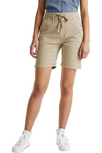 edc by Esprit Damen 040CC1C315 Shorts, 250/KHAKI BEIGE, 36