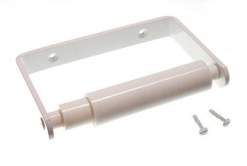 Toilet Roll Holder blanc avec le rouleau et Vis Blanc