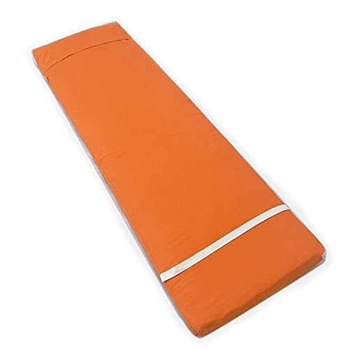 Tesosy Cojín Tumbona Naranja Liso 180 x 55 x 8 cm, Colchone