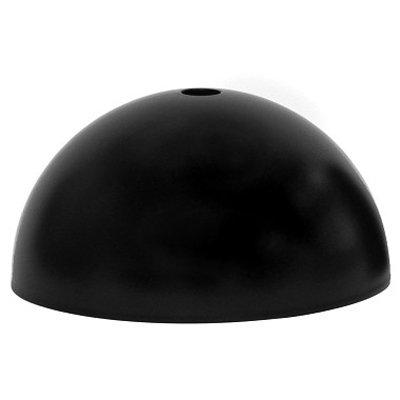 Rosace Dôme métal noir - plafonnier