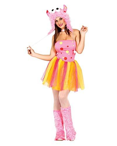 Horror-Shop Sexy Pink Furry Monster Kostüm M