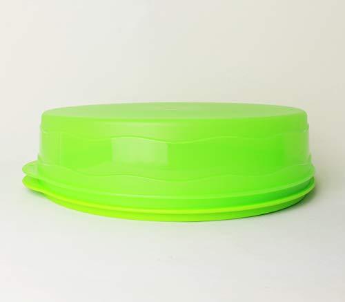 Junge Welle TUPPERWARE Kuchenform rund GRÜN Kuchen Form Tortenbehälter Torty + Kiwilöffel