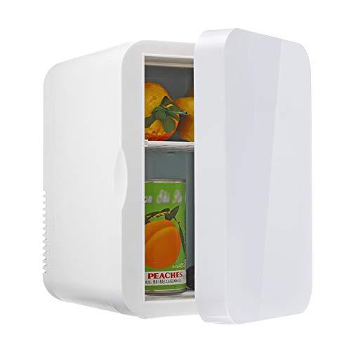 JTJxop Refrigerador Compacto, Mini Nevera De 6L para El Cuidado De La Piel y Cosmética, Nevera De Coche con AC/DC, Bajo Nivel De Ruido Adecuado para Dormitorio, Oficina, Dormitorio y Coche, Blanco