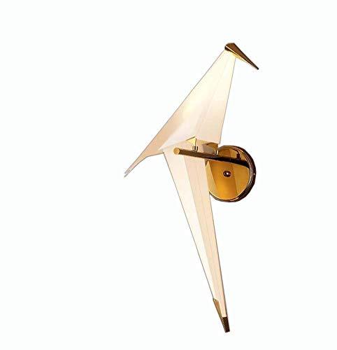 WY-YAN Lámpara de Pared de Papel posmoderna lámpara de Pared de pájaro de la grúa/Comedor/Sala de Estar/Dormitorio/Estudio/Personalidad Creativa Simple Pared de la lámpara de Techo G4 Fuente