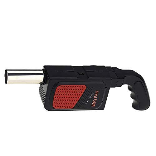 Gobesty Grill gebläse, Tragbare Handheld Elektrische BBQ Fan Air Gebläse, Elektrisches Gebläse, mit komfortablem Griff, FüR Im Freien Kampierendes Picknick Grill-Kochwerkzeug