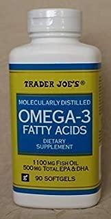 Trader Joe's Omega-3 Fatty Acids 1100mg Fish Oil, 90softgels