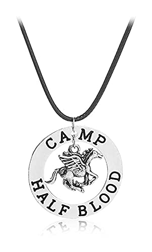 Magical Jewelry Gift Co. Camp Half Blood Charm Pendant Necklace - Silver Metal