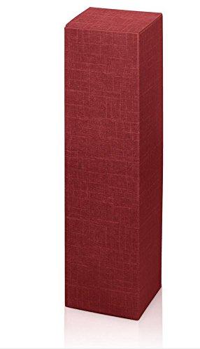 10 Stück Weinkarton, Weinverpackung, Flaschenkarton -Fineline Bordeaux Faltschachtel für Eine Flasche Wein/Sekt (Bordeaux)