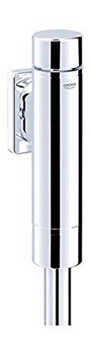 Grohe Druckspüler, 37347000 Rondo, für Flach- und Tiefspül-WC, mit Spülstromregulierung, Starlight Chromoberfläche, Betätigungskappe & Abgangsmutter, Messing & Kunststoff, 21288 5