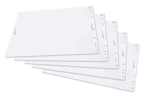 Legamaster 7-156000 Flipchart-Papier, 5 Blöcke mit je 20 Blatt, blanko