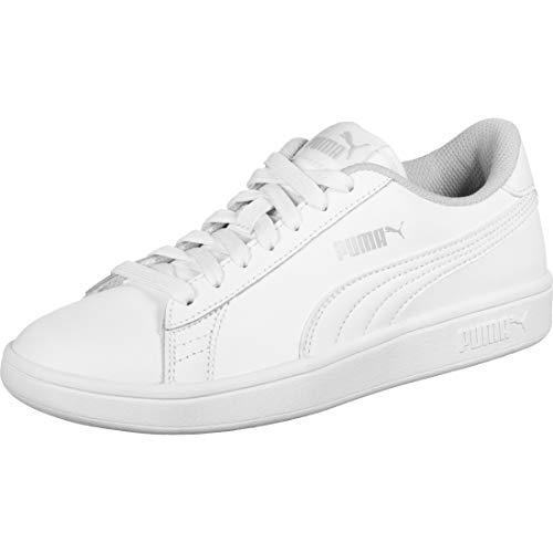 PUMA Unisex-Kinder Smash v2 L Jr Sneaker, Weiß White White, 39 EU