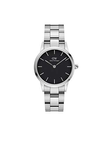 Daniel Wellington Iconic Link, Reloj Plateado, 28mm, Acero Inoxidable, para Mujer