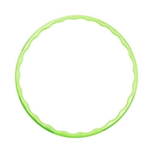 UKKD Hula Hoop 8 Piezas Sport Hoop Detachable Cintura Delgada Hoop Yoga Círculo Pilates Anillo Ponderado Instalar Masaje Adelgazamiento Magic Circle