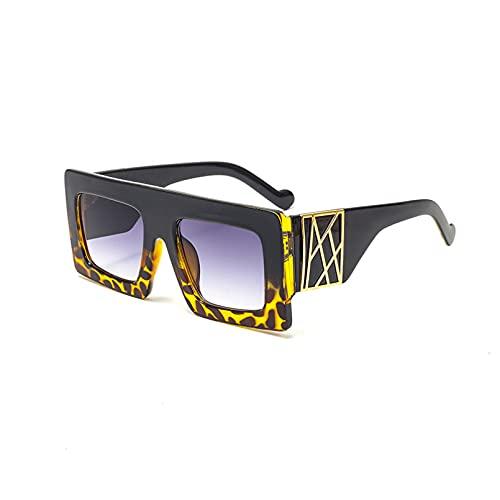 BAJIE Gafas de Sol Gafas de Sol de Moda de Pierna Ancha con Montura Grande para Mujer Gafas de Sol con Estampado de Moda para Hombres y Mujeres