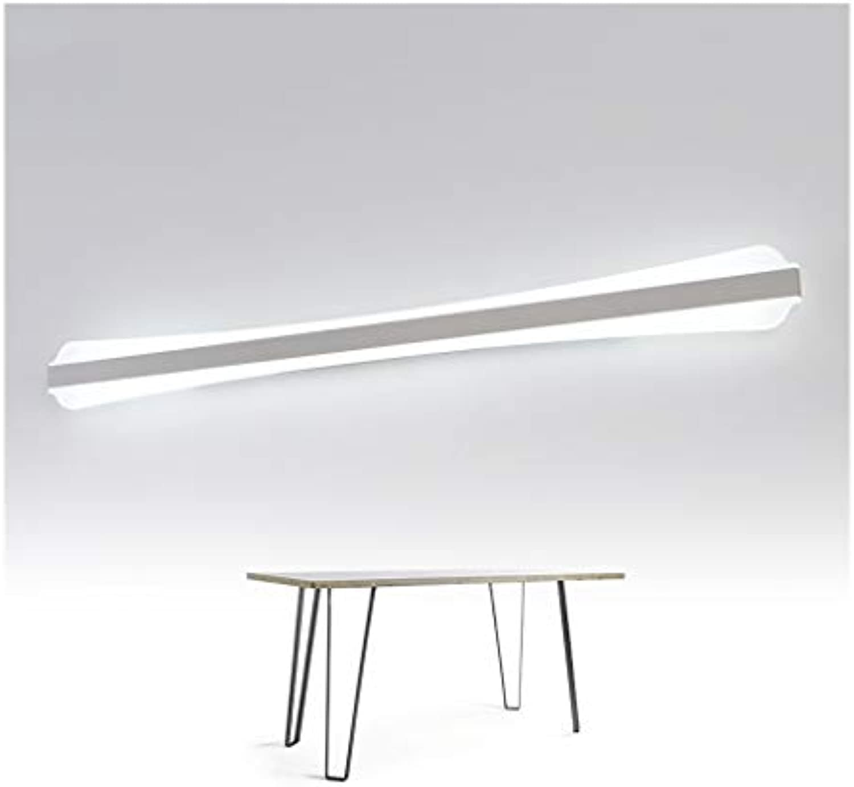 Spiegelleuchte LED Spiegelleuchte Badezimmer Wasserdichte Schminktisch Spiegel Kabinett Licht Acryl Wandleuchte LED Spiegellicht (Farbe   Weies Licht-60cm)