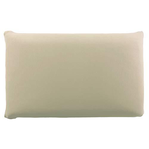 Edda Lux - Funda para almohada (72 x 42 cm, 70 x 42 cm, 100% algodón, con cremallera), color capuchino