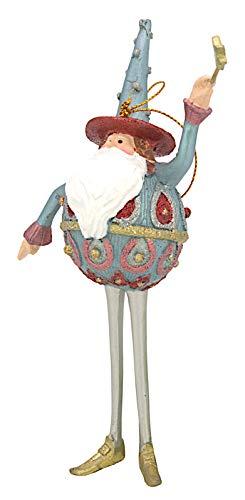 ecosoul Weihnachtsmann Weihnachten Baumschmuck Figur Deko Hänger Christbaumschmuck 16 cm (mit Stern)