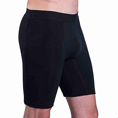 Sweatshield Sweat Proof Boxers with Stay Cool Anti-Sweat Micromodal Fabric Black