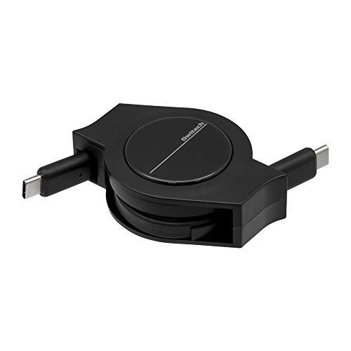 オウルテック 超タフ 巻取り Type-C(USB-C) to Type-C(USB-C)ケーブル PD対応 2年保証 100cm ブラック OWL-CBRKCC10-BK