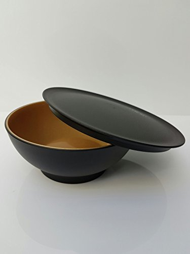 Tupperware Allegra Servierschale Schüssel mit Deckel schwarz gold Weihnachten 275ml edel glänzend