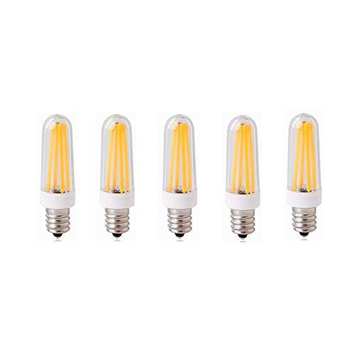 Hoogwaardig LED-licht AC200-240V E14 LED-sokkellampen, filament-COB-kroonluchter, 4 W (40 W halogeenequivalent), 350 lm, 3000 K, 6000 K, dimbare E14-lampen voor de hoofdverlichting, 5-pack