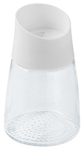 Fackelmann Gewürzstreuer, Streudose für Gewürze, Gewürzdose aus Glas (Farbe: Weiß/Transparent), Menge: 1 Stück