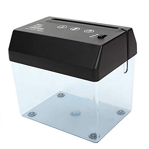 WBYHGY Eléctrica trituradora de Papel - Mini portátil trituradora de Escritorio de Oficina pequeña trituradora