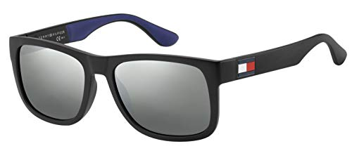 Tommy Hilfiger TH 1556/S, Occhiali da Sole Uomo, Blk Blue, 52