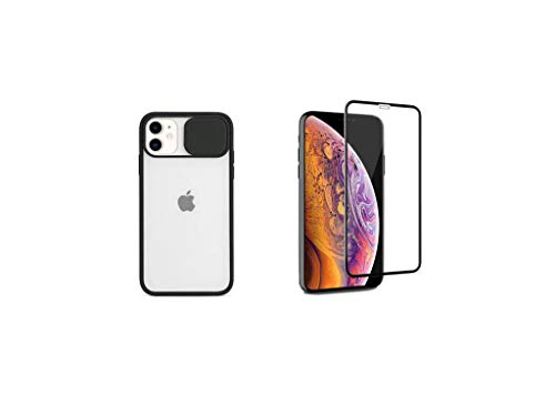 Us Lite Slide Camera Lens Protection Case/Back Cover and Tempered Glass Combo Pack for iPhone X