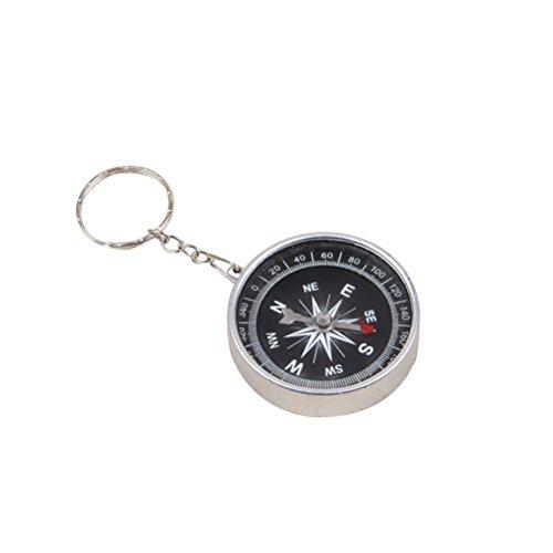 Toyvian 12 stücke piratenkompass mit schlüsselanhänger kompass schlüsselanhänger schlüsselanhänger Tasche anhänger Handtasche schmuck Kinder Geschenke (Silber)