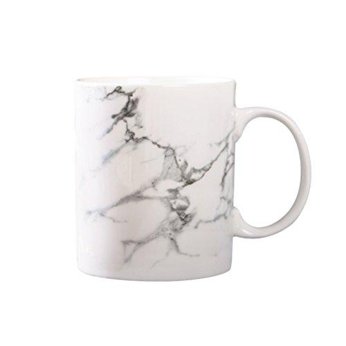 BESTONZON 301-400ML Marmor Effekt Keramik Becher Tee Tasse Milch Kaffeetasse Tasse für Coffee Shop Home Office