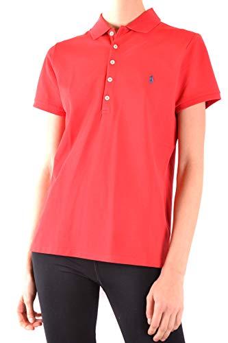 Polo Ralph Lauren Damen Stretch MESH/Julie Polo T-Shirt, Rot (Rl2000 Red 000), Small