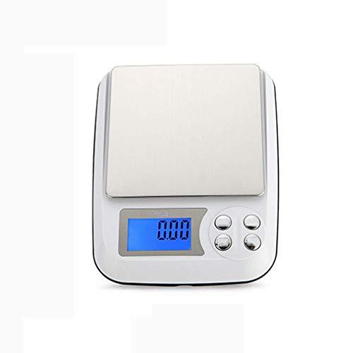 Ningz0l keukenweegschaal digitale voedingsweegschaal huishouden mini draagbare precisie bakken koffie wegen 3 kg elektronische weegschaal 160 mm * 125 mm * 38 mm (zonder batterij) 500g/0.01g