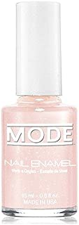 Mode Nail Enamel (French Manicure -Soft Delicate Ballerina Pink w/Hint of Pearl - Shade #182) .50 FL OZ. - Long Wear/High Gloss/Chip Resistant/Cruelty-Free/Vegan/Salon Nail Polish Formula/Made in USA
