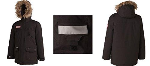QUCHUA Jacke, Winterjacke, Kinderjacke, Schneejacke, schwarz, Verschiedene Größen (8 Jahre/Gr. 128)