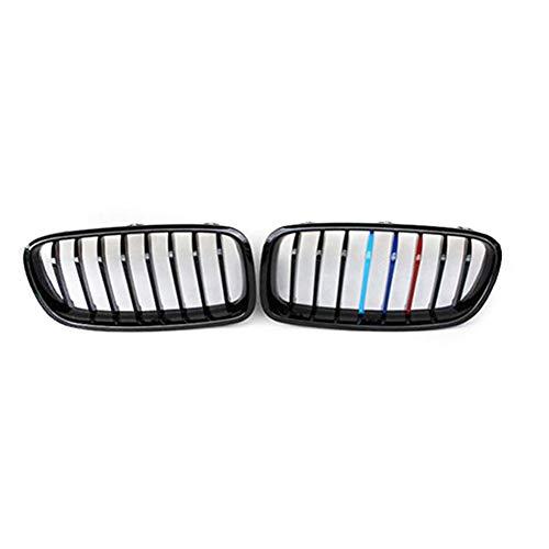 ZhengELE Parrilla Delantera de Coche para BMW F30 Sedan F31 Touring 328i 335i 316d 318d 2012-2018 ABS plástico Negro Brillante M Color