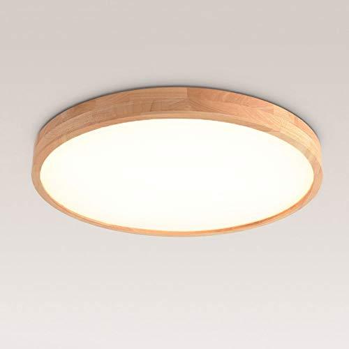 LED Deckenleuchte Nordic Modern Holz Deckenlampe Runde Holz Lampe Eiche Decke Leuchte für Wohnzimmer Schlafzimmer Esszimmer Büro Kinderzimmer Leuchte Decke Licht (Größe : 30cm 16w) [Energieklasse A++]