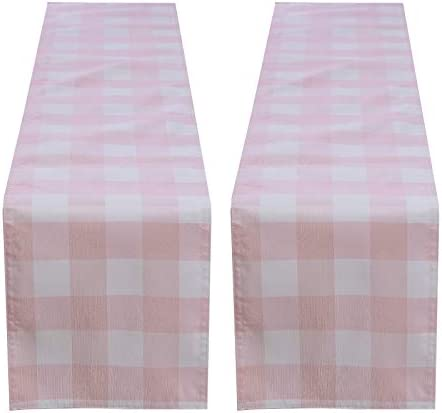 Billiving 2pcs Buffalo Plaid Table Runner with Lining 13 x 72 Classic Stylish Design for Kitchen product image