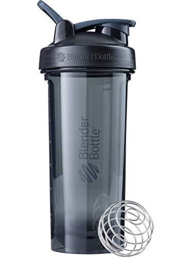 BlenderBottle Pro28 Tritan Trinkflasche mit BlenderBall, optimal geeignet als Eiweiß Shaker, Protein Shaker, Wasserflasche, BPA frei, skaliert bis 600 ml, Fassungsvermögen 820 ml, schwarz