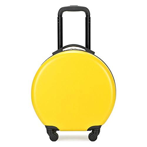ZZLHHD Ruedas Trolley Escolar,Bolsa de Corbata para niños, Color Trolley Case-Yellow,Trolley Mochila Escolar con Rueda