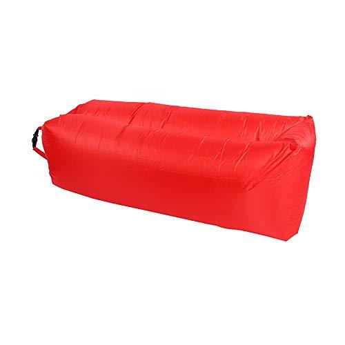 ZTOONE aufblasbare Liege Couch Air Lounger Lazy Sofa mit Tragetasche, Hängematte Aufblasbare Matratze Aufblasbares Bett Pool Float zum Schwimmen, Camping, Strand, Wandern, Park, Garten, Pool (Rot)