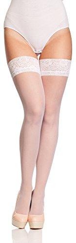 Antie Calze Autoreggenti Donna O 4000 20 DEN (Bianco, L (Taglia Produttore: 4))