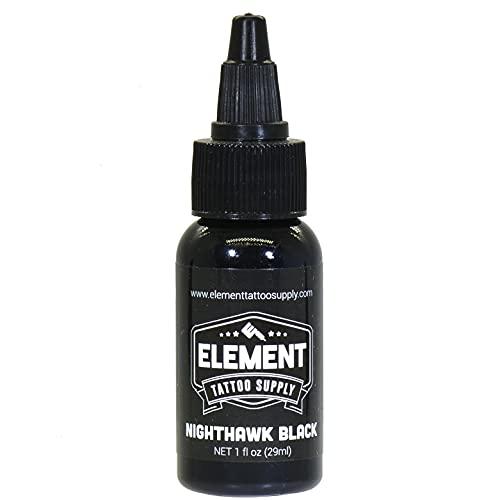 Element Tattoo Supply Black Tattoo Ink Nighthawk 1oz Bottle...