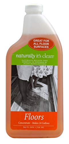 Naturally It's Clean Floor Cleaner (Makes 24-Gallons) for All Floor Types (Plant Based Enzymes) pH Neutral, Biodegradable, Kids&Pets Safe; Rinse Free, Eliminates Odors