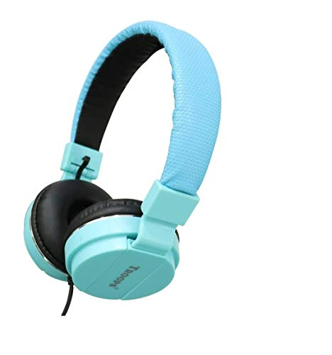 Tp Troops Extra DeepBass Headphone Universal Compatible 3.5mm Wired Jack Over The Ear with Inbuilt MIC and Soft Cable