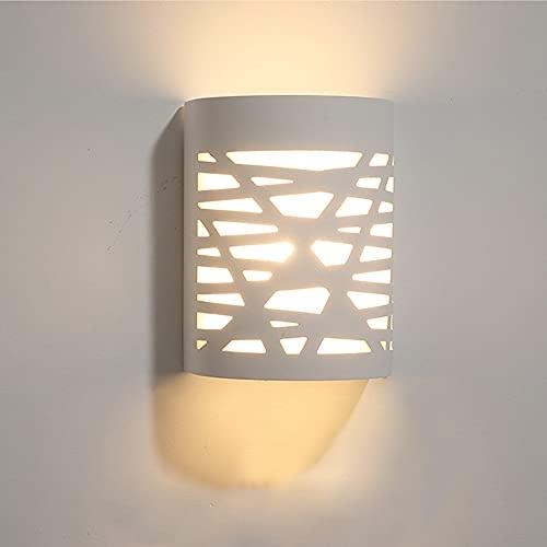 Apliques de Pared Interior Apliques de Pared LED de Yeso Blanco Usados Para el Pasillo de Las Escaleras del Dormitorio de la Sala de Estar